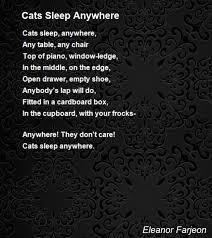 Empty Chair Poem Cats Sleep Anywhere Poem By Eleanor Farjeon Poem Hunter