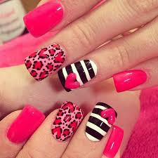 image result for pink and black nail polish designs clothes
