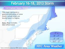 Snowfall Totals Map Winter Snow Maps Nyc Area Weather