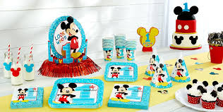 1st birthday party ideas for boys mickey mouse 1st birthday party supplies party city