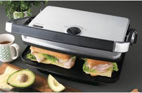 Sunbeam Cafe Series Toaster Sunbeam Gc7850b Cafe Contact Grill And Sandwich Press At The Good Guys