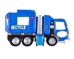 personalized recycler sideloading garbage truck ornament