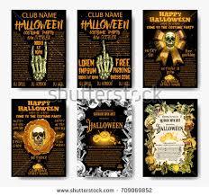 vector set of cartoon skulls for halloween download free vector