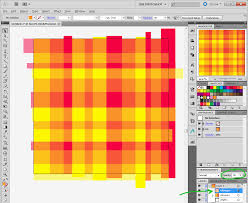 super quick plaid patterns in photoshop or illustrator color on