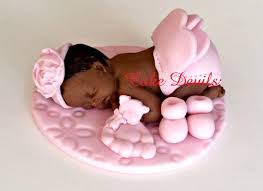 baby cake topper baby girl fondant sleeping baby baby shower cake topper pink
