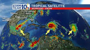 stormteam10 3 hurricanes in the atlantic now wjar