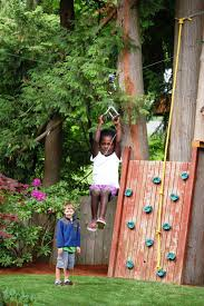 Backyard Zip Line Ideas Backyards Winsome Backyard Obstacle Course American Ninja