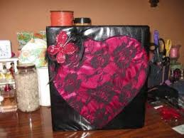 3 Ring Photo Albums Altered 3 Ring Binder Lace Heart Photo Album Youtube