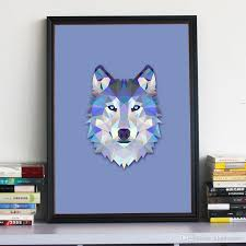Canvas Home Store by Geometric Wolf Canvas Art Print Painting Poster Wall Pictures For