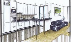 dessiner en perspective une cuisine port folio ingé déco