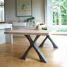 used dining room tables wood tables with metal legs amazing wood dining table with metal