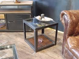 canape en bois bout de canapé en bois metal de style industriel micheli design