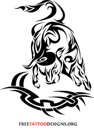 back neck tribal taurus tattoo for men in 2017 real photo