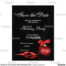 elegant christmas and holiday party save the date magnetic card