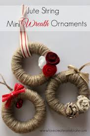 jute string mini wreath ornaments christmas trees crafts and