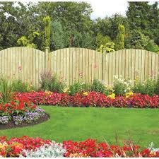 dome feather edge garden fence panel 6ft by grange click4garden