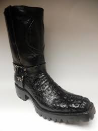 biker boots brands safari harness crocodile biker boots u2013 dudes boutique