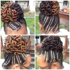 big little braids with a two tone twisted bun drea u0027s braided up