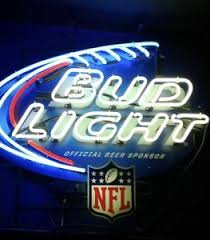 Authentic Bud Light Nfl Neon Sign Ebay