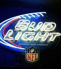 bud light neon light authentic bud light nfl neon sign ebay