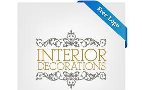 ornamental interior decoration logo template free vector logo