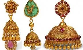 gold jhumka earrings design bhima jewellers jhumka designs jewellery designs