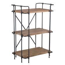 1 Shelf Bookcase Amazon Com Denise Austin Home Brooklyn 3 Shelf Bookcase Kitchen