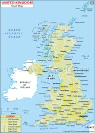 Map Of Ireland And England by Uk Road Map United Kingdom Highway Map