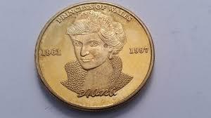 diana princess of wales rose gold plated coin u2022 0 98 picclick uk