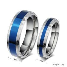 blue titanium wedding band 2017 blue titanium ring valentines day gift