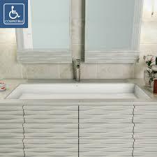 unique undermount bathroom sinks decolav sacha solid surface rectangular undermount bathroom sink