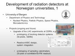 radiation detection research in norway players status and goals