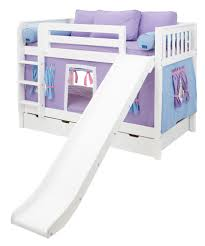 Maxtrix Low Bunk Bed WStraight Ladder And Slide TwinTwin - Maxtrix bunk bed