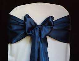 navy blue chair sashes 150 satin chair cover sash bow for wedding banquet reception decor