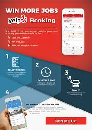yelp booking powered housecall pro office