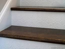 Laminate Flooring For Stairs A Stairway Gets A New Look Using Ordinary Brown Paper