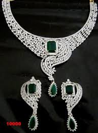cubic zirconia necklace sets images Classical cz necklace set at rs 6999 piece cubic zirconia jpg