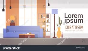 living room interior home modern apartment stock vector 561867832