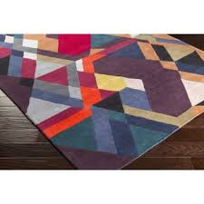 Purple And Black Area Rugs Modern Purple Area Rugs Allmodern