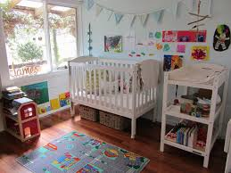 awesome kids room design with black finish wooden loft beds which