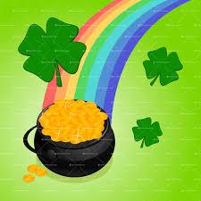 pot o u0027 gold u2014 vector illustration of a black pot of gold at the