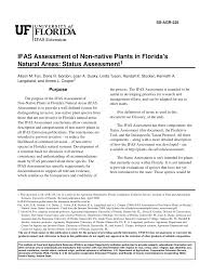 invasive non native plants ss agr 225 ifas assessment of non native plants in florida u0027s