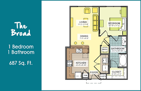 1 bed 1 bath floor plan aspyre at assembly station