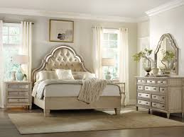 mirror bedroom furniture set with curved carving frame on