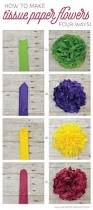 Making Of Flowers With Paper - learn how to make four different types of tissue paper flowers