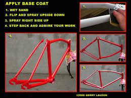 great canadian bike overhaul painting the bicycle frame with color