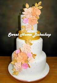 wedding cake no fondant sweet home bakeshop home