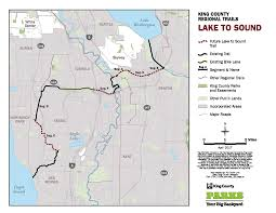 Seatac Map Lake To Sound Trail King County