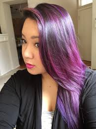 dsk steph purple ombre hair color