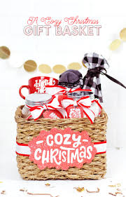 make your own gift basket a cozy christmas a christmas gift basket idea lou